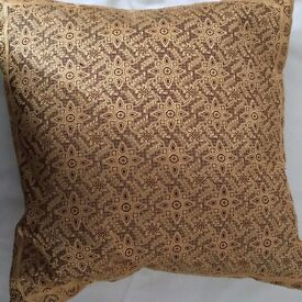 6 silk scatter cushions