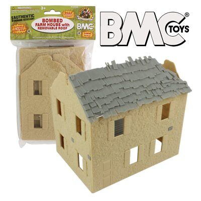 BMC Toys Bombed Farm House with Removable Roof  WW2 1/32 scale
