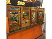 Penny machines , one arm bandits , coin operated Wanted
