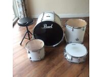 4 Piece Drum Kit with Hi hat and Crash