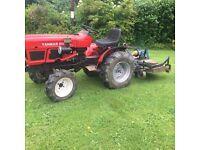 Yanmar tractor & finishing mower 4ft