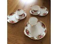 Fabulous Royal Albert, Old Country Roses, cup and saucer sets, afternoon tea