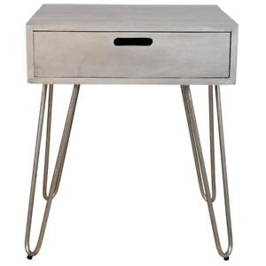 Light Grey Accent End Table Sale-WO 7543 (BD-2593)