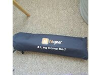 Hi gear 4 leg camp bed NEVER BEEN USED