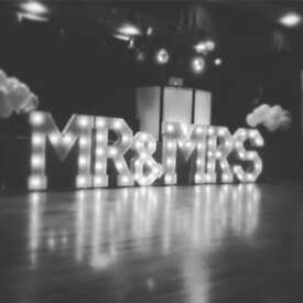 3ft TALL MR & MRS letters for sale