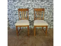2x Large Solid Wood & Sturdy Chairs