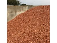 Red garden and driveway chips/stones