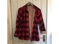 Fur lined shirt size 10
