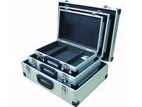 Maplin N50JU Small/Medium/Large Aluminium Metal Flight Case Lockable (Pack of 3) USED