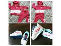 Baby girls Nike tracksuit and trainers