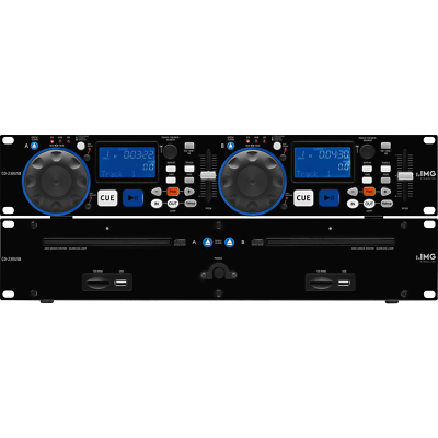 IMG Stageline CD-230USB Dual CD Player DJ Disco Rack Sound Audio