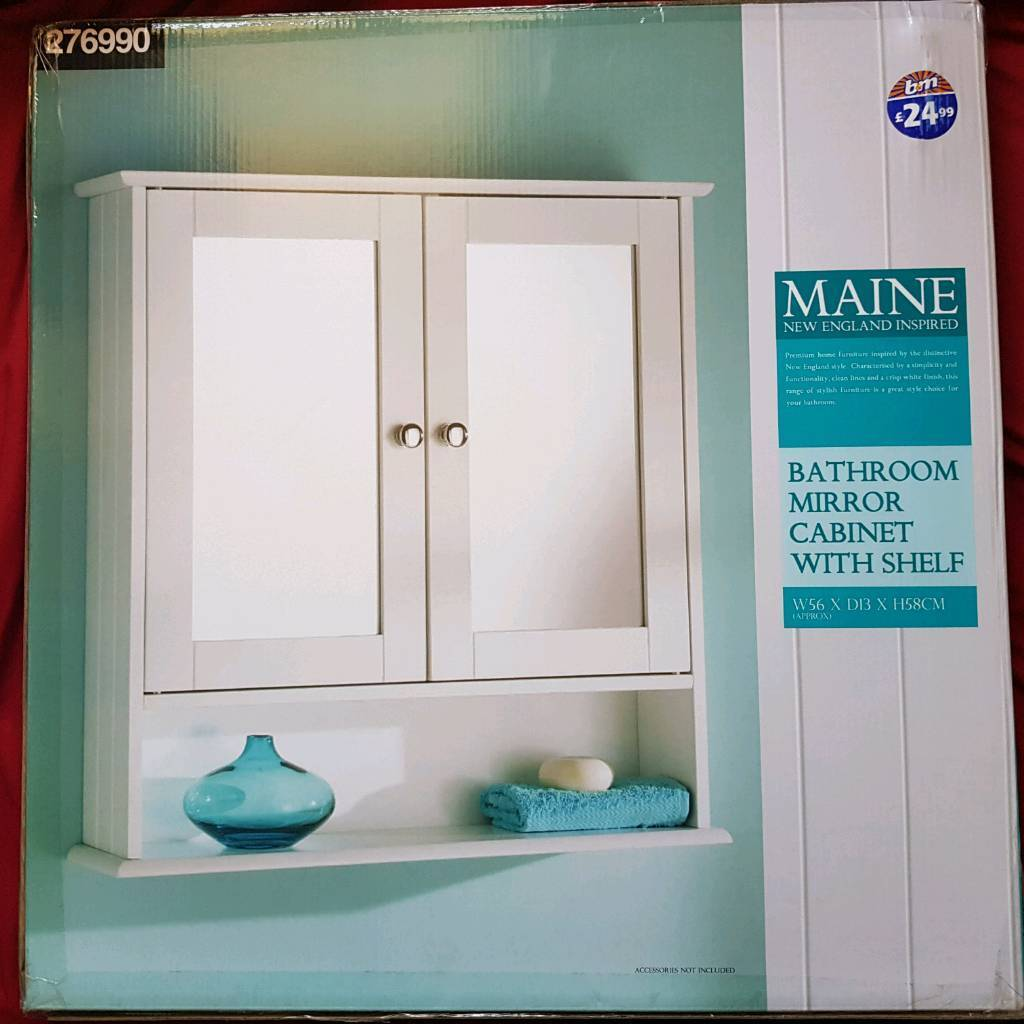 New BATHROOM MIRROR CABINET WITH SHELF | in Thrybergh, South ...