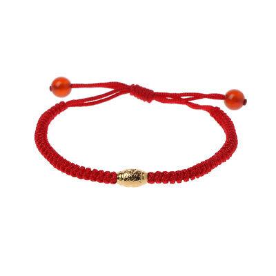 Handmade Kabbalah Red String Evil Eye Protection Bracelet with Lucky Gold Beads (Lucky Evil Eye Protection)