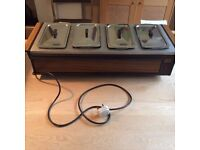 EKCO Heated Hostess Side Server Buffet 4 glass dishes & lids. Collection Coulsdon Croydon Surrey
