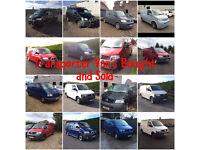 All Volkswagen Transporter Panel Van's / Window Van's Etc Required Top Price Paid