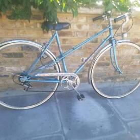 Peugeot ladies classic mixte bike blue