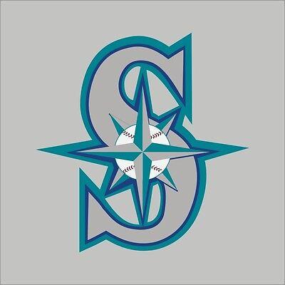Seattle Mariners #2 MLB Team Logo Vinyl Decal Sticker Car Window Wall (2 Seattle Mariners Car)