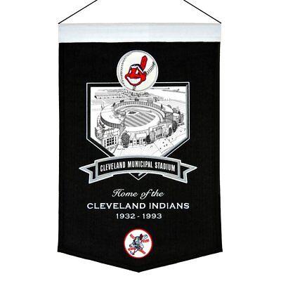 MLB Baseball Cleveland Indians Stadium Wimpel Pennant Wool Blend Banner 58x38