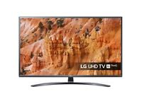 LG 43 inch Smart AI ThinQ Ultra HD 4K Slim LED TV, HDR, Quad Core, WiFi, Netflix, Youtube, Apps
