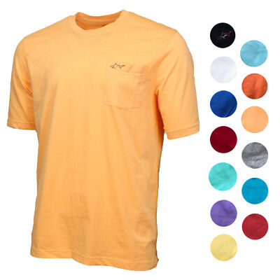 Greg Norman Men's 100% Cotton Casual T Shirt with Chest Pocket