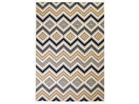 Modern Rug Zigzag Design 80x150 cm Brown/Black/Blue-133012