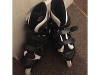 Roller blades roller skates black very good condition cheap