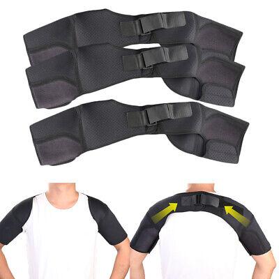 3x sports double shoulder brace support strap