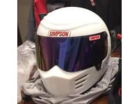 Simpson Outlaw Bandit XL White Motorcycle Helmet