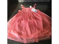 Girls H&M pink tulle dress new with tags