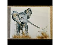 Elephant canvas picture