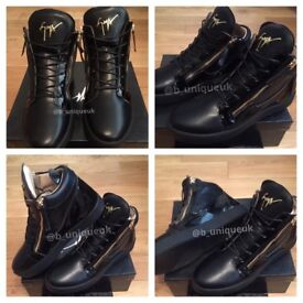 Giuseppe Zanotti Black High Top Unisex Men Women Boys Girls Trainers Sneakers Shoes Fashion Footwear