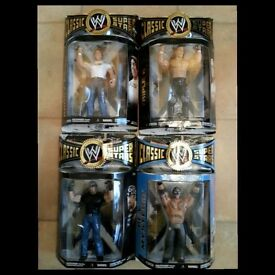 Jakks WWE Classic Superstars New Boxed MOC Figures 1, 2 and 3 Packs (Individually priced in listing)