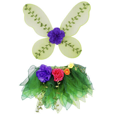 2 stücke Kinder Mädchen Fee Engel Schmetterling Flügel Tüll Rock Bühne (Stück Engel Mädchen Kostüme)