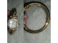 Womens gold watch bracelet