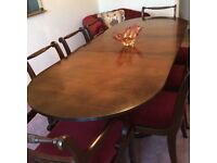 For Sale Dining Room Table and 8 Chairs.