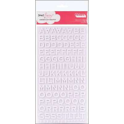 American Crafts Thickers Foam Letter Stickers, Fantastic White