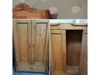 Solid vintage beautiful double wardrobe