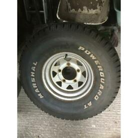 Spare wheel - ' split rim'with valuable tyre