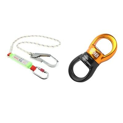 Delta Plus Work Height Safety Fall Arrest Lanyard Rope Thimbled Ends Cherry Pick Outdoor Sports Sporting Goods