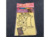 Fun Kid's DIY Activity Single Pack Scratch Art Craft Kit Chinese New Year Happy Bear Design