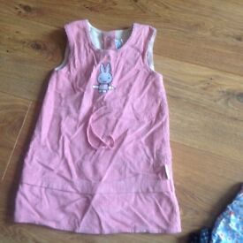 Miffy Pink cord dress Age 18-24 months