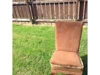 Vintage bed side chair
