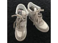 Ash size 3 wedge trainers