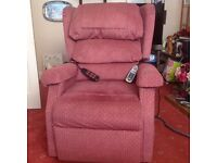 Electric Rise and Recline mobility arm chair with heat and massage