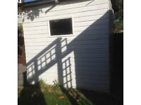 Garden Shed: Good condition. Buyer collects. Workshop inside included. Freshly painted.