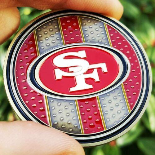 PREMIUM NFL San Francisco 49ers Poker Card Guard Chip Protector Golf Marker Coin