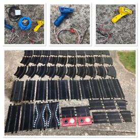 Vintage SCALEXTRIC Large Collection Track/Power/Controllers etc