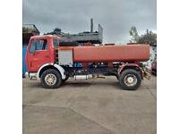 Left hand drive Mercedes Benz 1613 7000 litres WATER tanker. On big axles.