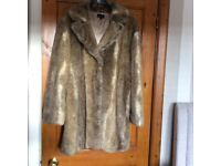 Top shop faux fur coat