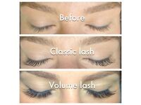 Semi permanent eyelash extensions / individual / russian volume / volume / eyelashes/ mobile/